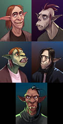 Shadowrun portraits yet again by haffri