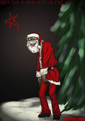Santa Claus eats children. by ironmiyako