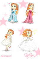 Chibis Giselle by MarineElphie