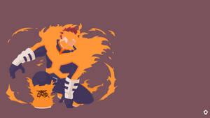 Endeavor Boku no Hero Academia Minimalist by Darkfate17