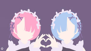 Ram and Rem|Re:Zero|Minimalist by Darkfate17