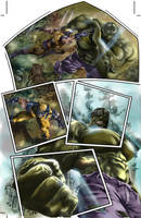 Wolverine vs Hulk by ColoristKamui