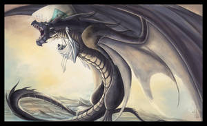 Ancalagon attacks the Vingilot by Belegilgalad