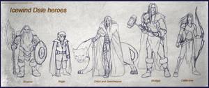 Icewind Dale heroes by Belegilgalad