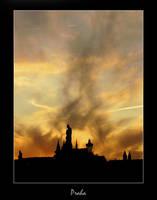 sky in flames by blindbird