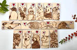 Endangered Animals Pyrography Mini Plaques by BumbleBeeFairy