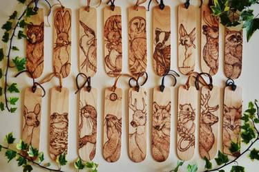 Woodland Creatures Bookmarks by BumbleBeeFairy