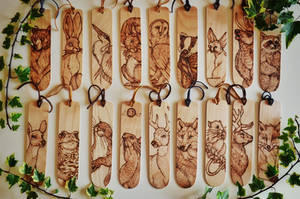 Woodland Creatures Bookmarks by BumbleBeeFairy