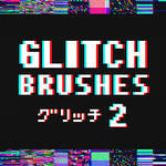 Glitch Brushes 2 - Clip Studio Paint by Tsiox