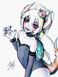 Bowsette - Fast Sketch by Tsiox
