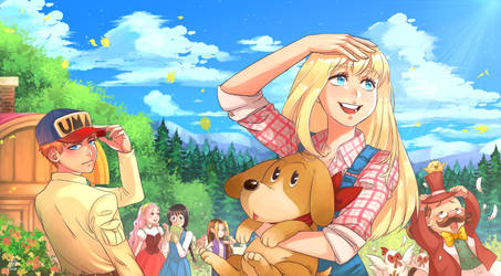 harvest moon back to nature fanart by P-Pigling