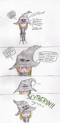 Pottermore: the Sorting Hat by theHappyHippo