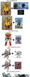 The kaijus artificial fabrications ( Godzilla Neo) by marcdrac2