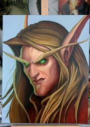 Bloodelf Oilpainting World of Warcraft BC 40x50cm by sinigemec