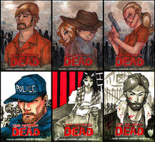 the walking dead cards sample by Peng-Peng