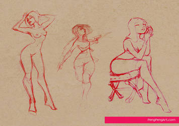 lady sketches 12.6.12 by Peng-Peng
