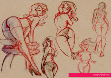 lady sketches 01.23.13 by Peng-Peng