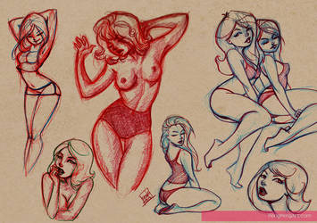 lady sketches (abt 2-3 mos ago) by Peng-Peng
