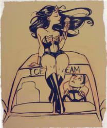 a break for Wonder Woman by Peng-Peng