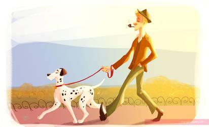 pongo and his pet by Peng-Peng