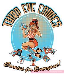 Third Eye Comics Pinup Tshirt by Peng-Peng