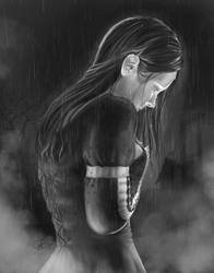 Sorcha in the Rain by SweetJeannie