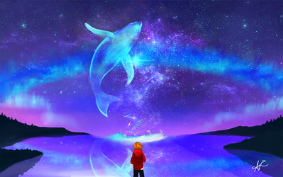 Blue Auroras by SolarasReign