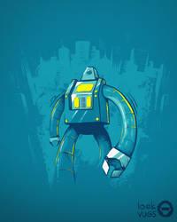 Robot in town by Loek93