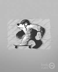 Skateboard Bear by Loek93
