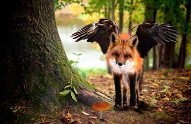 fox beast by iwuvrubberduckies