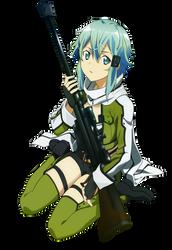 Sinon Vector - Sword Art Online by tobuei