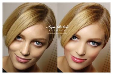 Make up Anja Rubik by Vivienne7