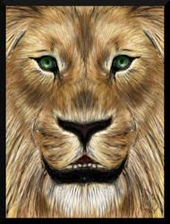 .::Lion Portrait::. by flame1111