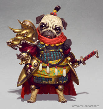 Pug Warrior by mc-the-lane
