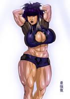 Sasha's MMA blue gear by saikyoDRAGON
