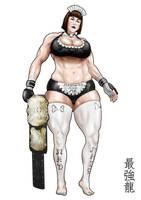 Mad Maid Mary w Openweight belt by saikyoDRAGON