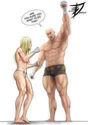 Commission - Mature Mauler vs Iron Fist Ike 1 by saikyoDRAGON
