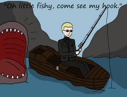 Oh little fishy, come see my hook by Mlie-Redfield