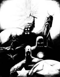 Classic Avengers Team Up by DaveIgo