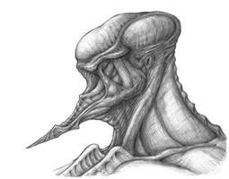 Alien Head Thing - 01 by DaveIgo