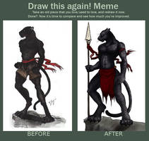Draw it again Meme: Pantherman by shadowsmyst