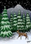 Snowy Forest by shadowsmyst