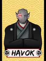 Vancoufur 2014 badge - Havok by shadowsmyst