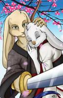 Nousagi and Rikka by shadowsmyst