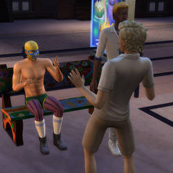 What is this guy's deal? (TS4) by ryuusei86