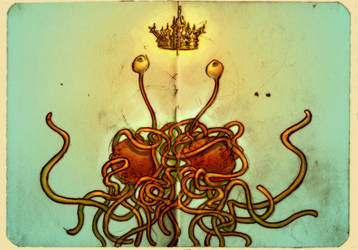 The Flying Spaghetti Monster by ggatz