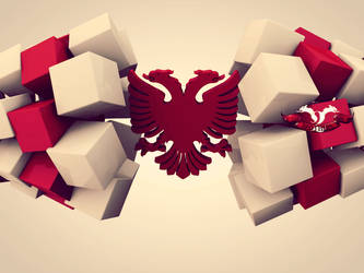 Albanian Eagle 3D by xhevahir