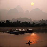 Li Jiang at dawn by foureyes