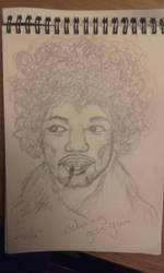 jimi hendrix without using an eraser by HeartClubBand