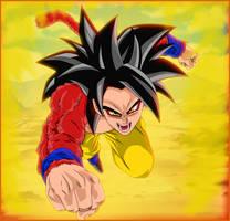 Victory mission - Goku super saiyan 4 by SD8bit